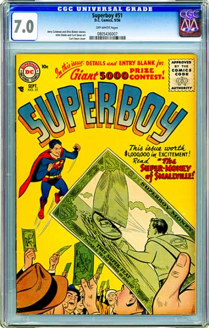 CGC Graded Comics - Superboy #51 (CGC)