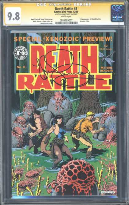 CGC Graded Comics - Death Rattle #8 (CGC) - Death Rattle - Xenozoic - Preview - Creatures - Swamp
