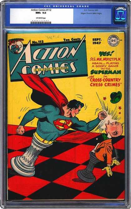 CGC Graded Comics - Action Comics #112 (CGC) - Action Comics - Sept 1947 - Superman - No 112 - Mr Mxyztplk
