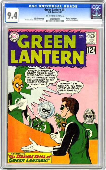 CGC Graded Comics - Green Lantern #11 (CGC) - Green Lantern - Superman National Comics - Approved By The Comics Code - Featuring - Alien
