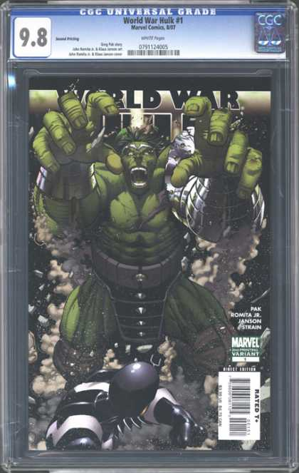 CGC Graded Comics - World War Hulk #1 (CGC) - Marvel - Green Body - Janson - Attack - Park