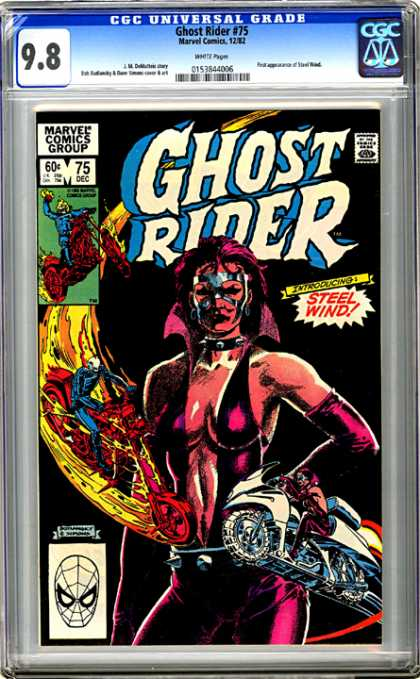 CGC Graded Comics - Ghost Rider #75 (CGC) - Ghost Rider - Steel Wind - Motorcycles - Flames - Marvel Comics