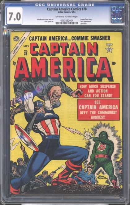 CGC Graded Comics - Captain America Comics #78 (CGC)