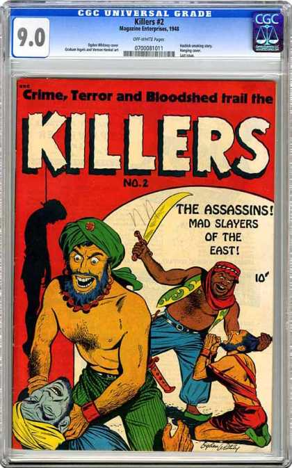 CGC Graded Comics - Killers #2 (CGC) - The Assassins - Middle East Terror - Torture And Submission - Slayers - Exotic Weaponry