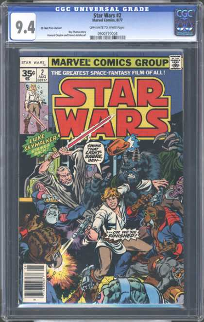 CGC Graded Comics - Star Wars #2 (CGC) - Star Wars - Luke Skywalker - Light Saber - The Greatest Space-fantasy Film Of All - Aliens