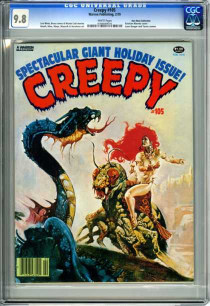 CGC Graded Comics - Creepy #105 (CGC) - Spectacular Giant Holiday Issue - Creepy - 105 - Dragon - Insect