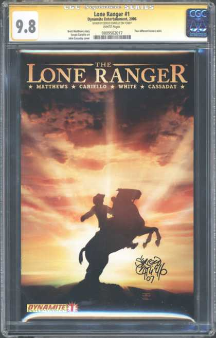 CGC Graded Comics - Lone Ranger #1 (CGC) - Silver - Horse - Sunset - Clouds - Silhouette