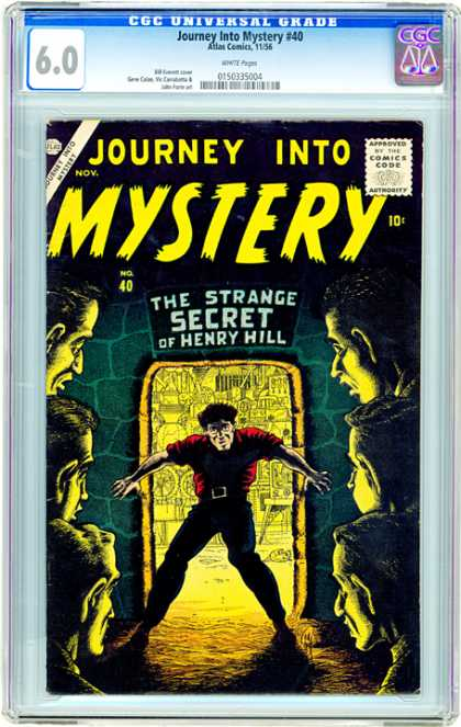 CGC Graded Comics - Journey Into Mystery #40 (CGC) - Mystery Secret - Secret Mystery - Strange Secret - Mystery Journey - Henry Hill Mystery