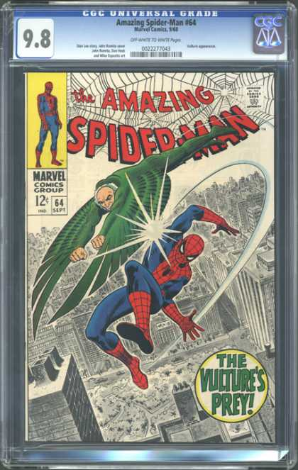 CGC Graded Comics - Amazing Spider-Man #64 (CGC) - 64 Sept - Vulture Man - City - Green Wings - Punch