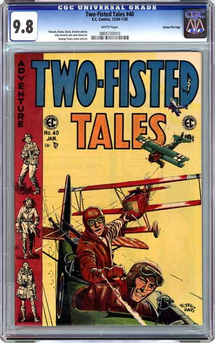 CGC Graded Comics - Two-Fisted Tales #40 (CGC) - Two Fisted Tales - Adventure - Cgc Universal Grade - No 40 January - Ec Comics