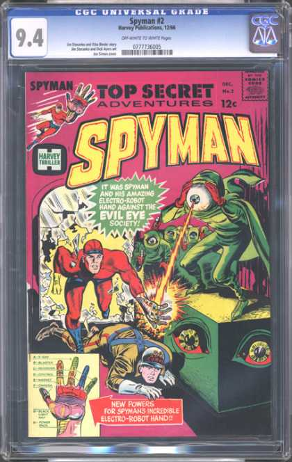 CGC Graded Comics - Spyman #2 (CGC) - Hologram - Top Sercret - Big Eye - Broken Window - Spyman