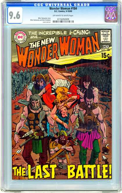 CGC Graded Comics - Wonder Woman #184 (CGC) - I-ching - The Last Battle - Mourning - Carrying Body - Soldiers