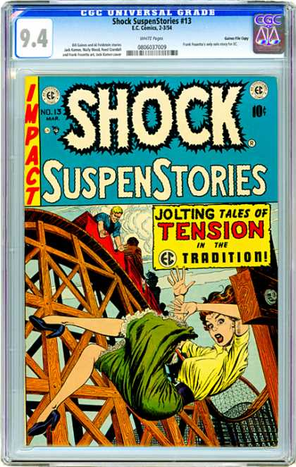 CGC Graded Comics - Shock SuspenStories #13 (CGC) - Shock - Impact - Suspenstories - Jolting Tales - Tension