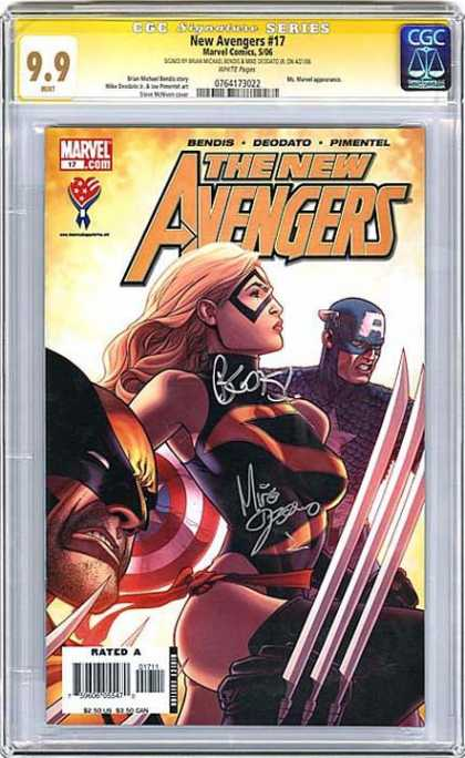 CGC Graded Comics - New Avengers #17 (CGC) - Marvel Comics - Bendis - Deodato - Pimentel - Rated A