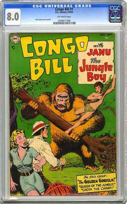 CGC Graded Comics - Congo Bill #1 (CGC) - Congo Bill - Jane - Jungle Boy - Golden Gorilla - Woman