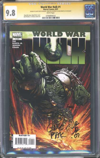 CGC Graded Comics - World War Hulk #1 (CGC) - Marvel - Pak - Romita Jr - Janson - Strain