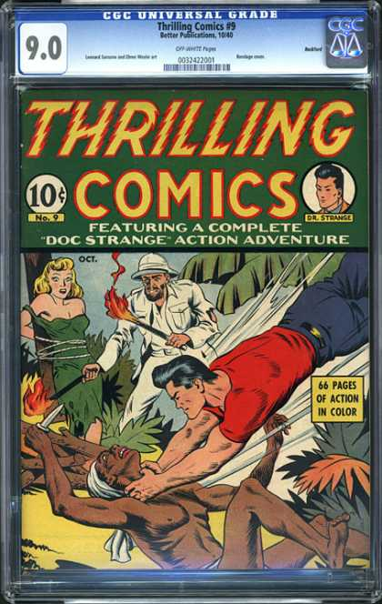 CGC Graded Comics - Thrilling Comics #9 (CGC) - Thrilling Comics - Featuring A Complete - Doc Strange - Action Adventure - Action In Color