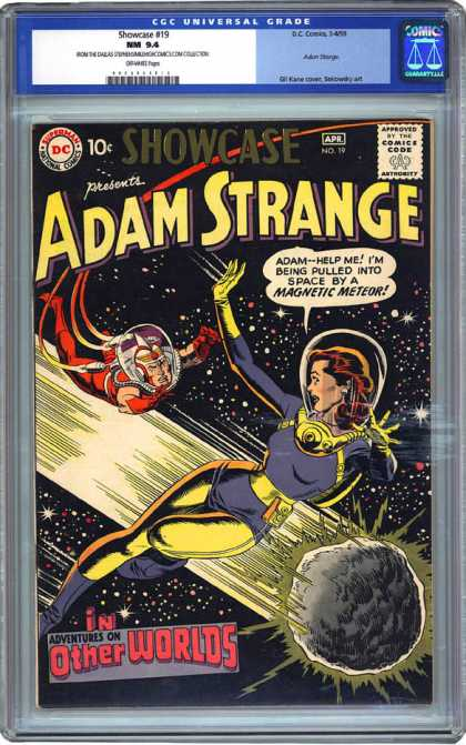 CGC Graded Comics - Showcase #19 (CGC) - Adam Strange - Magnetic Meteor - Adventures Of Other World - Space Adventures - Space Rescue