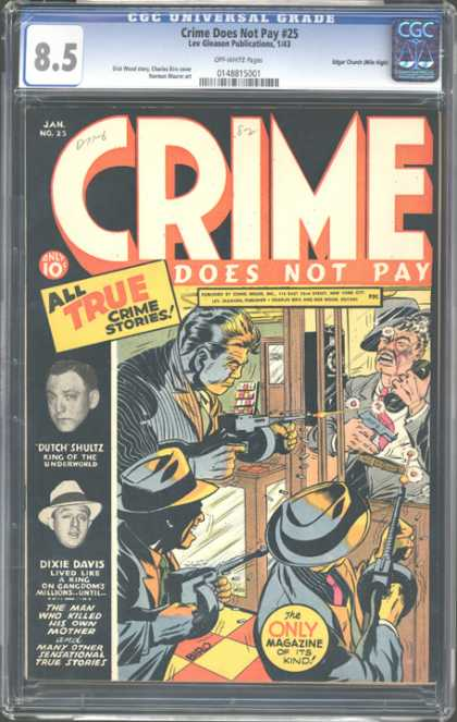 CGC Graded Comics - Crime Does Not Pay #25 (CGC)
