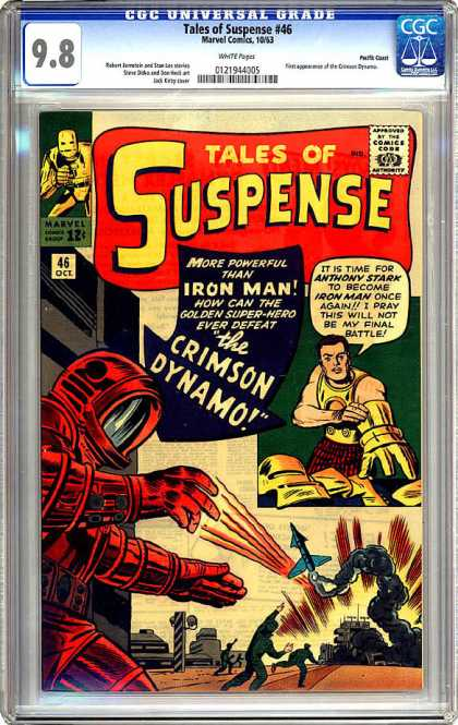 CGC Graded Comics - Tales of Suspense #46 (CGC) - 46 Oci - Iron Man - Crimson Dynamo - Tales Of Suspense 46 - Marvel