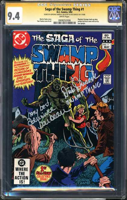 CGC Graded Comics - Saga of the Swamp Thing #1 (CGC)