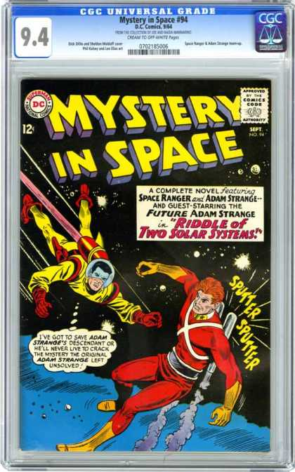 CGC Graded Comics - Mystery in Space #94 (CGC) - Mystery In Space - Space Ranger - Adam Strange - Riddle Of The Two Solar Systems - Future Adam Strange