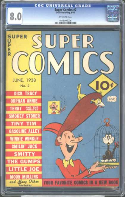 CGC Graded Comics - Super Comics #2 (CGC) - June 1938 - Cage - 10 Cents - Cat - Bird
