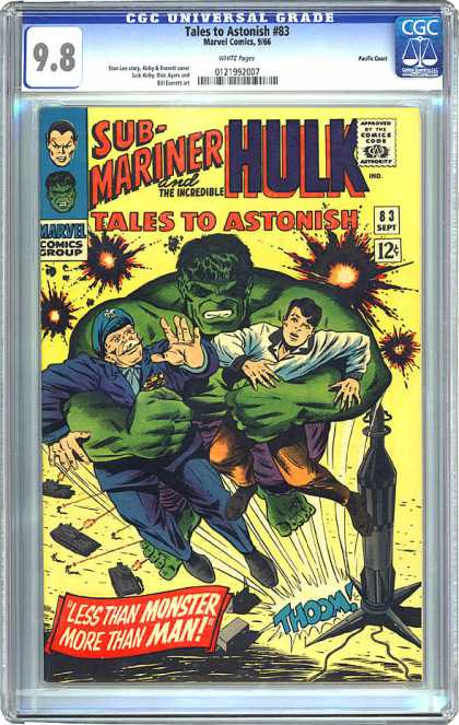 CGC Graded Comics - Tales to Astonish #83 (CGC) - Sub-mariner - Incredible Hulk - Tales To Astonish - 83 Sept - 98