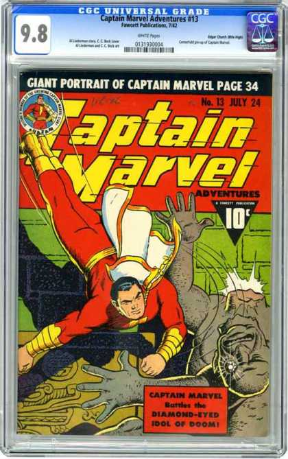 CGC Graded Comics - Captain Marvel Adventures #13 (CGC)