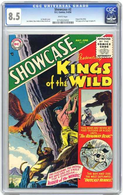 CGC Graded Comics - Showcase #2 (CGC) - Emperor Of The Wilds - Showcase2 - Outcast Heroes - The Runaway Bear - Rider Of The Wind