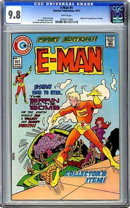 CGC Graded Comics - E-Man #1 (CGC) - Brain - Bomb - Earth - First Edition - Collectors Item