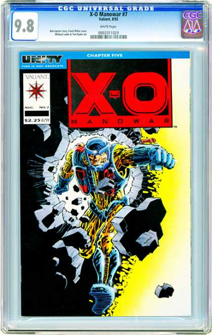 CGC Graded Comics - X-O Manowar #7 (CGC)
