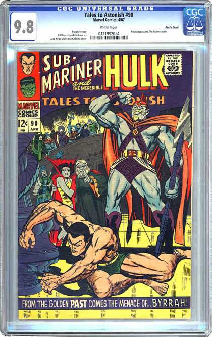 CGC Graded Comics - Tales to Astonish #90 (CGC) - Sub-mariner And The Incredible Hulk - Crowd - Spear - Byrrah - From The Golden Past