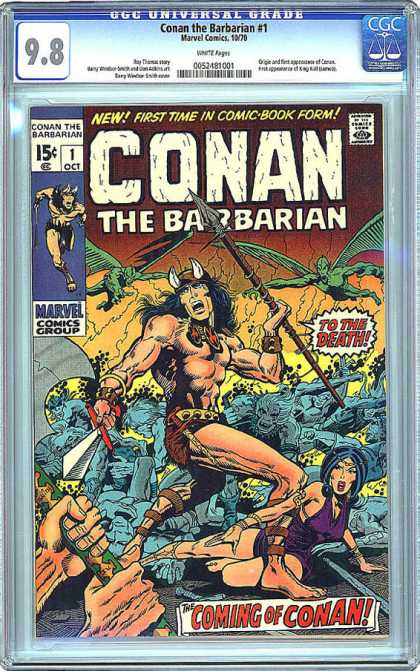 CGC Graded Comics - Conan the Barbarian #1 (CGC) - Spear - Fling Men - Fantasy - Warrior - Woman