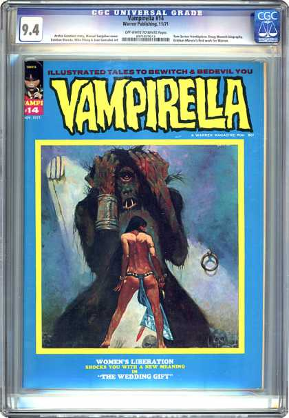 CGC Graded Comics - Vampirella #14 (CGC) - Cgc Universal Grade - Vampirella - Illustrated Tales To Bewitch And Bedevil You - Womens Liberation - The Wedding Gift