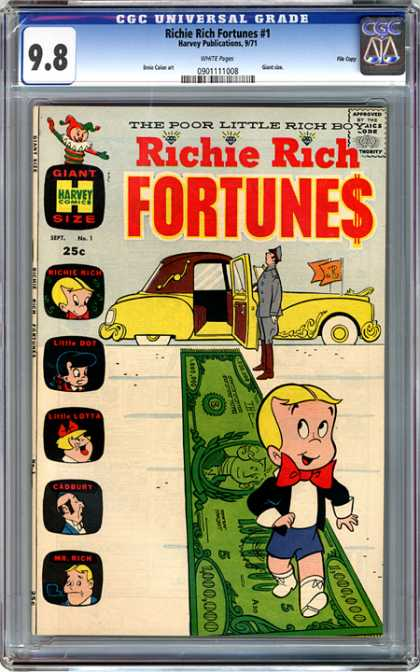 CGC Graded Comics - Richie Rich Fortunes #1 (CGC)