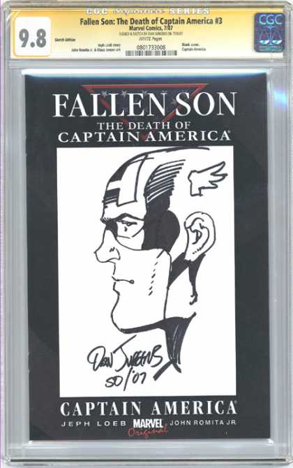 CGC Graded Comics - Fallen Son: The Death of Captain America #3 (CGC) - American Heroes - Drawing - Honor - Respect - Power