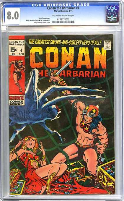 CGC Graded Comics - Conan the Barbarian #4 (CGC) - Conan - Barbarian - Marvel Comics Group - Spider - Woman