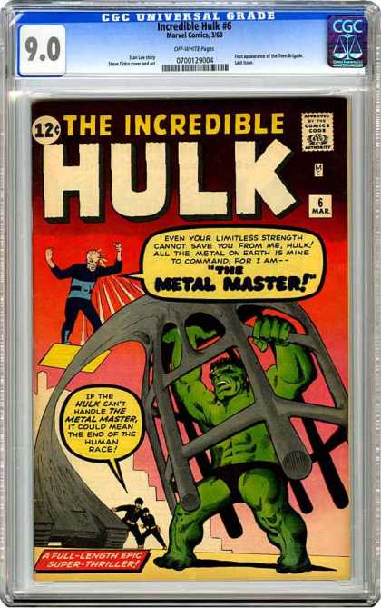 CGC Graded Comics - Incredible Hulk #6 (CGC)