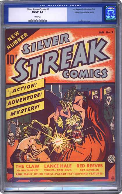 CGC Graded Comics - Silver Streak Comics #2 (CGC) - Silver Streak - New Number - Woman - Monster - Action