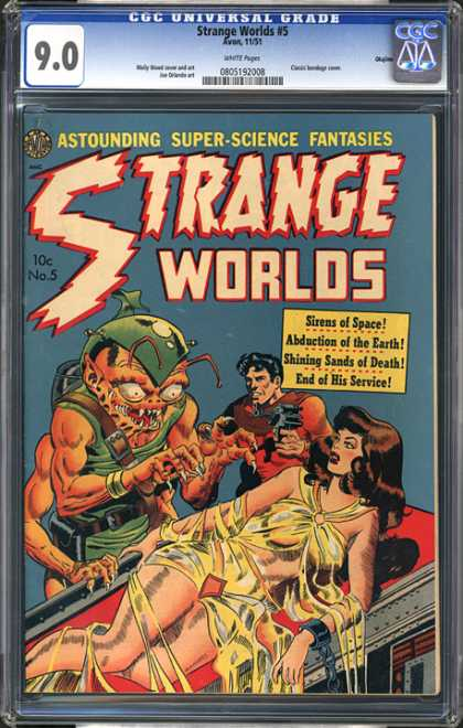 CGC Graded Comics - Strange Worlds #5 (CGC) - Alien - Abduction - End Of His Service - Earth - Death