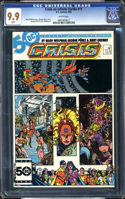 CGC Graded Comics - Crisis on Infinite Earths #11 (CGC) - Crisis - Marv Wolfman - George Perez - Jerry Ordway - Wonder Woman