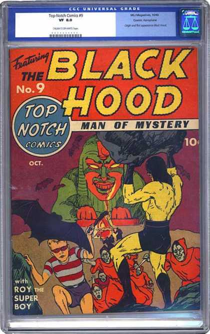 CGC Graded Comics - Top-Notch Comics #9 (CGC) - Bats - Villians - Robes - Muscles - Boy
