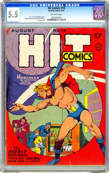 CGC Graded Comics - Hit Comics #14 (CGC) - Hit Comics - Hercules - The Redbee - Betty Bates - Lion Boy