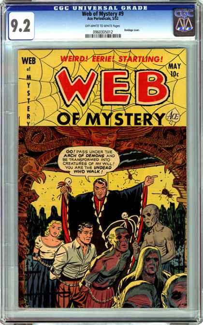 CGC Graded Comics - Web of Mystery #9 (CGC)