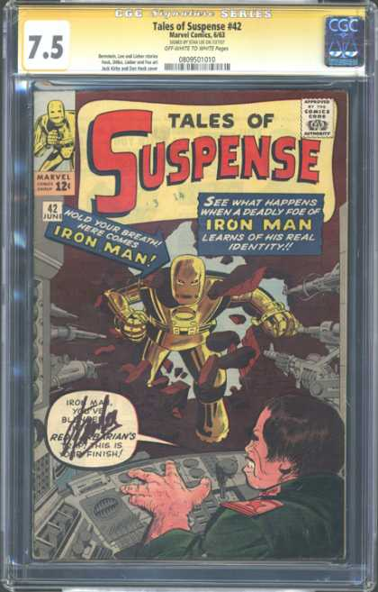CGC Graded Comics - Tales of Suspense #42 (CGC) - Iron Man - Robot - Guns - Rocks - 75