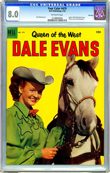 CGC Graded Comics - Four Color #479 (CGC) - Cowgirl - Horse - Hat - Mane - Green Blouse