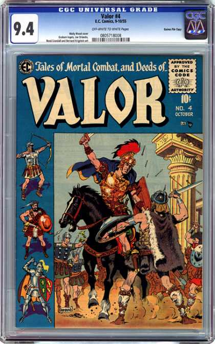 CGC Graded Comics - Valor #4 (CGC)
