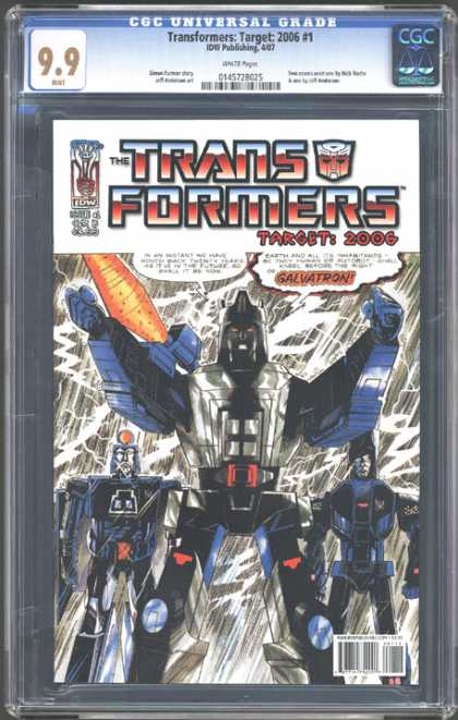 CGC Graded Comics - Transformers: Target: 2006 #1 (CGC) - Galvatron - Earth - Twenty - Future - Might