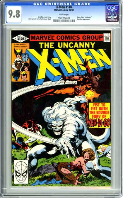 CGC Graded Comics - X-Men #140 (CGC)